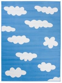 Pinky Area Rug Kids Children Room Bedroom Blue Sky White Clouds Play Mat Durable Carpet Size -