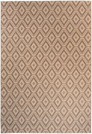 NATURE Indoor Outdoor Area Rug Kitchen Dining Diamond Brown