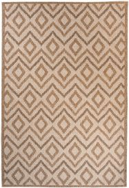 NATURE Indoor Outdoor Area Rug Diamond Kitchen Light Beige