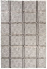 NATURE Indoor Outdoor Area Rug Kitchen Square Silver Grey