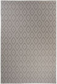 NATURE Indoor Outdoor Diamond Area Rug Kitchen Grey Beige