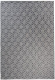 NATURE Teppich Outdoor Sisal Karo Dunkelgrau Modern Design