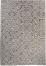 NATURE Indoor Outdoor Area Rug Kitchen Dining Trellis Grey