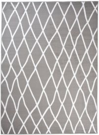 LUXURY Modern Area Rug Short Pile Abstract Lines Grey White