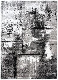 MAYA Modern Area Rug Short Pile Abstract Flecked Grey