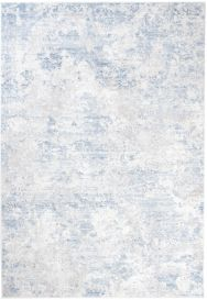 SKY Teppich Kurzflor Grau Blau Creme Karo Modern Design Meliert