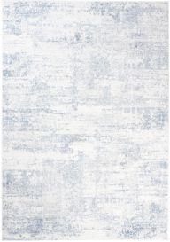 SKY Teppich Kurzflor Creme Blau Meliert Modern Design