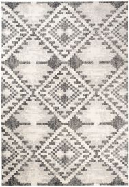 ETHNO Area Rug Short Pile Aztec Tribal Berber Flecked Cream