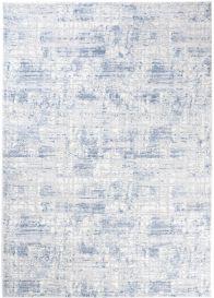 SKY Teppich Kurzflor Creme Blau Modern Design Meliert