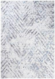 Sky Modern Contemporary Abstract ZigZag Flecked Grey