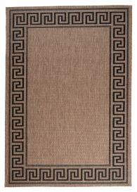 FLOORLUX Tapis Moderne Bordure Beige Noir Résistant Sisal