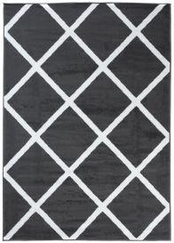 LUXURY Vloerkleed Donkergrijs Geometrisch Interieur Sfeervol