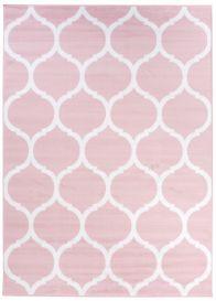 PINKY Vloerkleed Roze Marokkaans Patroon Tiener Design Duurzaam