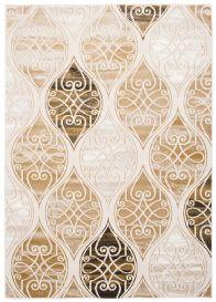 TANGO Teppich Modern Kurzflor Braun Hellbraun Gold Creme Abstrakt