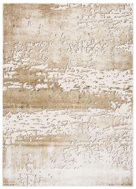 TANGO Teppich Modern Kurzflor Beige Hellbraun Abstrakt Design Meliert