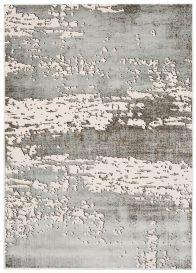 TANGO Teppich Modern Kurzflor Beige Grau Hellgrau Abstrakt Design