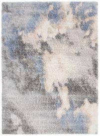 VERSAY Vloerkleed Grijs Blauw Abstract Shaggy Boho Wolken Design