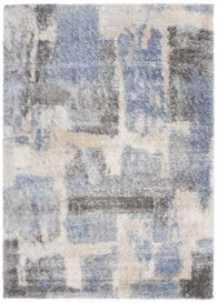 VERSAY Shaggy Area Rug Abstract Designer Blue Durable Carpet