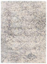VERSAY Vloerkleed Creme Boho Shaggy Diamond Abstract Modern