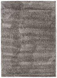 VERSAY Shaggy Area Rug Plain Dark Grey High Pile Durable Carpet