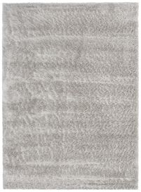VERSAY Shaggy Area Rug Plain Grey High Pile Durable Carpet