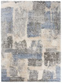 VERSAY Shaggy Area Rug Abstract Designer Grey Durable Carpet