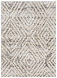 VERSAY Vloerkleed Grijs Abstract Shaggy Boho Geometrisch Duurzaam