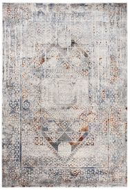 FEYRUZ 3D Area Rug Vintage Contemporary Abstract Ornamental Grey