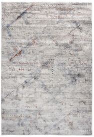 FEYRUZ Area Rug Modern Vintage Designer 3D Abstract Cream Grey