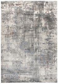 FEYRUZ 3D Area Rug Abstract Modern Vintage Designer Grey