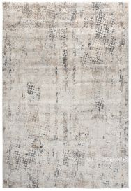 FEYRUZ 3D Area Rug Modern Vintage Abstract Dotted Grey Durable