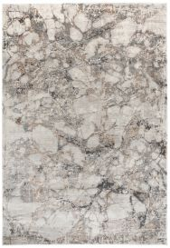 FEYRUZ 3D Area Rug Marble Contemporary Designer Grey Durable