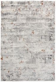 FEYRUZ 3D Area Rug Vintage Contemporary Abstract Cream Grey