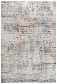 FEYRUZ Designer 3D Area Rug Modern Vintage Abstract Grey Ginger