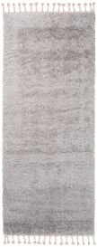 Versay Fransen Teppich Läufer Shaggy Modern Design Grau Einfarbig
