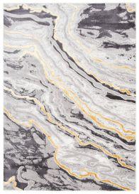 SHINE Tapis Moderne Abstrait Taches Marbré Or Graphite Crème Doux