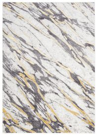 SHINE Teppich Kurzflor Modern Abstrakt Grau Hellgrau  Marmor Design