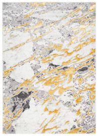 SHINE Teppich Kurzflor Modern Meliert Abstrakt Linien Grau Golden
