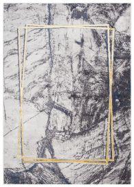 SHINE Tapis Moderne Abstrait Marbré Carreau Graphite Or Doux