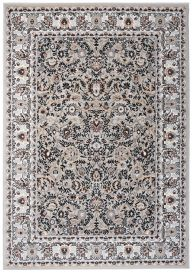 LAILA Tapis Traditionnel Ornamental Floral Bordé Crème Beige Doux