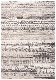 FIESTA Teppich Kurzflor Schwarz Grau Beige Vintage Patchwork