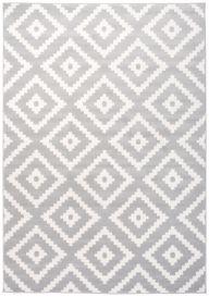 Laila Teppich Modern Kurzflor Grau Weiß Marokkanisch Karo
