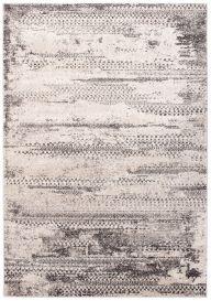 FIESTA Teppich Kurzflor Schwarz Beige Grau Vintage Meliert