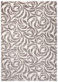 FIESTA Teppich Kurzflor Beige Grau Modern Floral Design Vintage