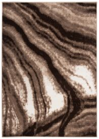 SCARLET DELUXE Area Rug Modern Cream Brown Beige Waves Durable
