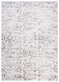 SKY Teppich Kurzflor Modern Floral Grau Wohnzimmer Schlafzimmer