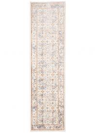 ASTHANE Teppich Läufer Beige Blau Braun Vintage Orientalisch