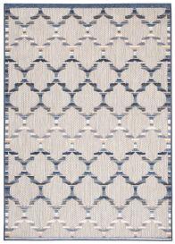 PATIO Teppich Outdoor Indoor Modern 3D Blau Grau Marokkanisch Sisal