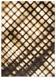 FIESTA Teppich Kurzflor Dunkelgrau Schwarz Creme Gelb Modern