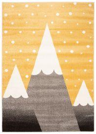 FIESTA Teppich Kurzflor Grau Gelb Creme Modern Meliert Gebirge